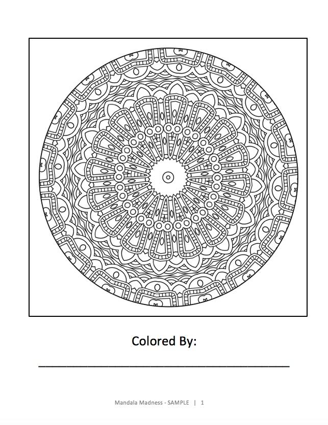 Mandala Madness - Sample Page